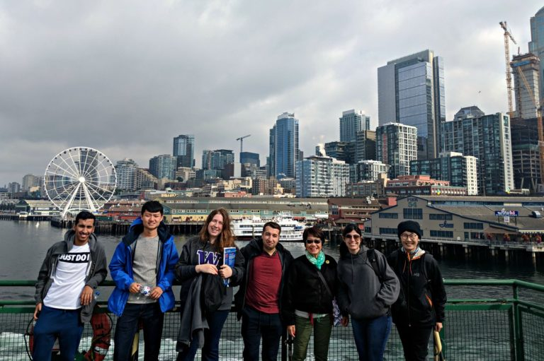 ALPS students on school activity Seattle ferry group picture